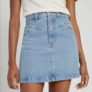 Frank & Oak Linda Mini Denim Skirt